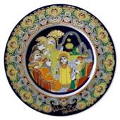 Bjorn Wiinblad Christmas plate 1981 Boy Jesus at the Temple