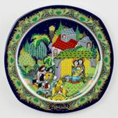 Bjorn Wiinblad Christmas plate 1983 Nativity of Jesus