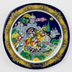 Bjørn Wiinblad Christmas plate 1985 The Three Magi follow the Star