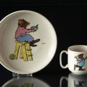 Arabia Children's Tableware with Mug and Plate with Mice