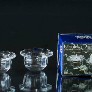 Arabia Egg cup and tealight candleholder in crystal 2 pce. | No. XAAG03 | DPH Trading