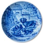 Berlin Design mother's day plate 1981 (German Text)