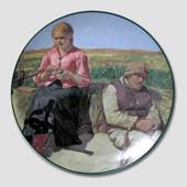 Plate with motif of the Skaw Painters, Christineholm
