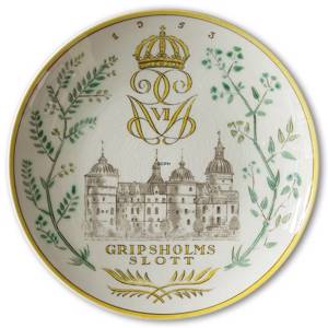 1953 Gefle Castle plate, Gripsholms Castle | Year 1953 | No. XGS1953 | DPH Trading