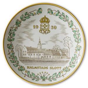 1959 Gefle Castle plate, Halmstad Castle | Year 1959 | No. XGS1959 | DPH Trading