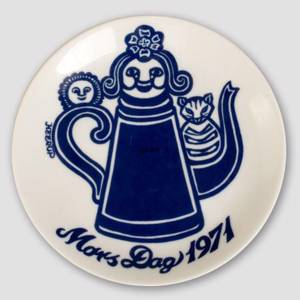 1971 Famous Danish Artists, mother's Day plate