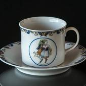Swedish Regional Costumes Coffee Cup No. 25 Östergötland