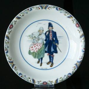 Swedish Regional Costumes Side Dish No. 7 Halland