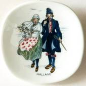 Mini Plate,Swedish Regional Costumes No. 7 Halland