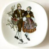 Mini Plate, Swedish Regional Costumes No. 17 Jämtland