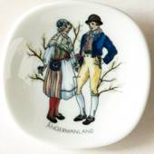 Mini Plate, Swedish Regional Costumes No. 21 Ångermanland