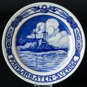 Plate with Armed ship Sweden