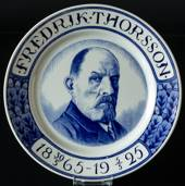 "Plate with ""Fredrik Thorsson 1865-1925"""