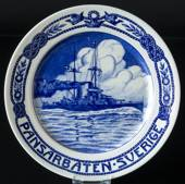 "Plate with ""Armed ship Sweden, small"