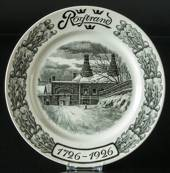 Rorstrand commemorative plate 1726-1926, grey