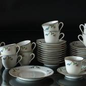 Rorstrand Louise coffee set with 11 cups with saucers and cake plates