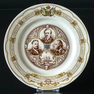 Rorstrand Plate Centenial of the Vega Expedition 1880-1890 | No. XRS25 | DPH Trading