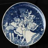 Rorstrand Stoneware Plate with Motif of Dancing Pairs