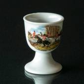Strömgarden egg cup with riders on hunting