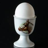 Strömgarden egg cup with horse head, brown with long mane