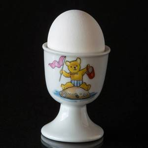Strömgarden egg cup with teddy bear with sand castle | No. XSAG38 | DPH Trading
