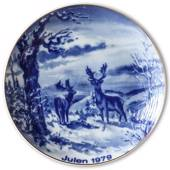 1979 Wallendorf Christmas plate, Red deer