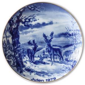 1979 Wallendorf Christmas plate, Red deer | Year 1979 | No. XWAX1979 | DPH Trading