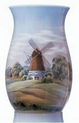 Royal Copenhagen vase 13028 with windmill