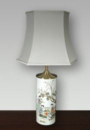 Lampshade Oblong Hexagonal Chinese lamp
