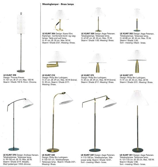 Le Klint Brass Lamp Overview