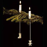 Georg Jensen Christmas Tree Candleholders - Sock and Teddy