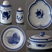 Tranquebar - Faience Coffee and Dinner Service with Blue Tulip - Save up to 30 %
