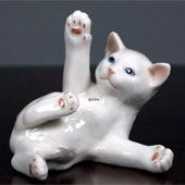 Cat Figurines produced by Royal Copenhagen and Bing & Grondahl