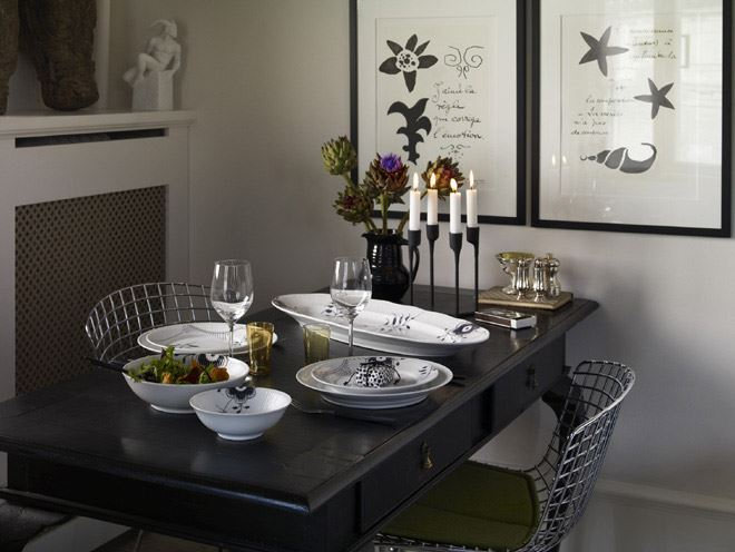 Black Fluted Mega Dinnerware Royal Copenhagen