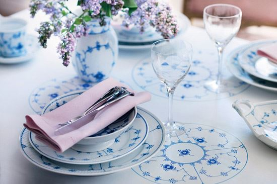 Blue Fluted Dinnerware Royal Copenhagen