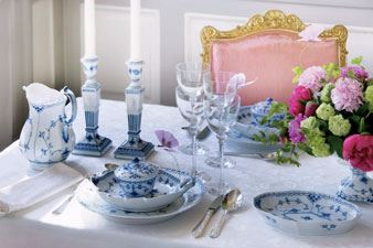 Blue Fluted Half Laced Dinnerware Royal Copenhagen