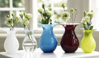 Holmegaard Shape vases in multiple colours