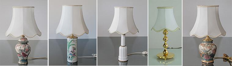 Lampeskærme - Håndsyede skærme i mange størrelser