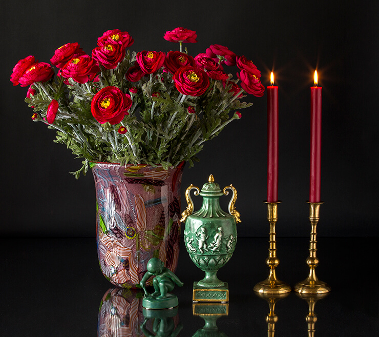 Candlesticks and candleholders in metal, silver, steel, bronze, brass, tin, chrome