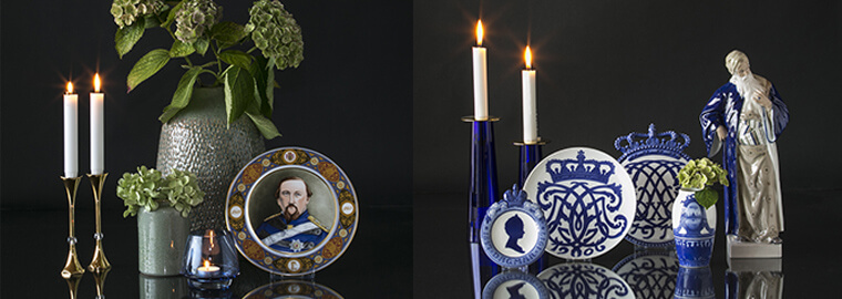 Royal Plates by Royal Copenhagen and Bing and Grondahl