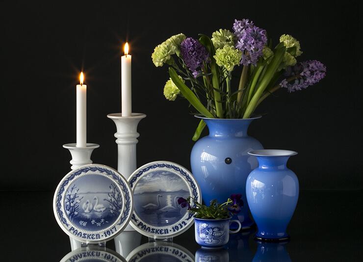 Holmegaard amphora vases