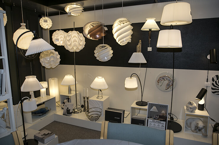 Le Klint lampshades, lamps and pendants