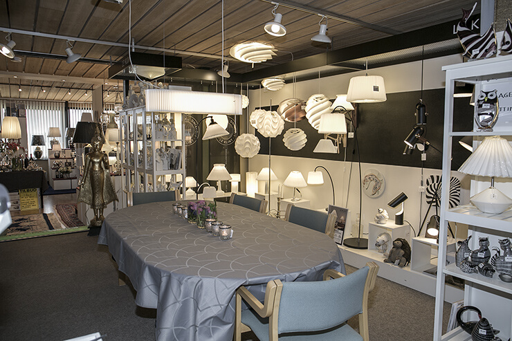 Le Klint lampshades and lamps