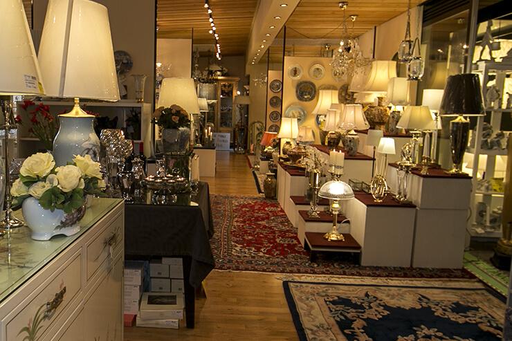 Klassische Lampen und Lampenschirme