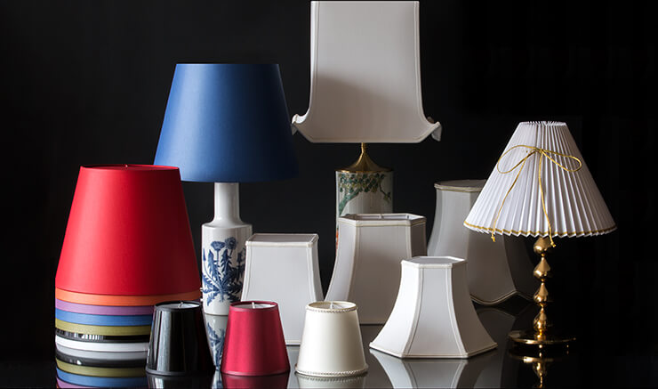 Lampshades for table lamps, floor lamps, chandeliers etc.