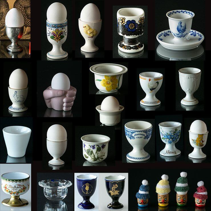 Egg cups - Large Selection of colourful eggcups