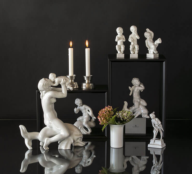 Royal White figurines from Royal Copenhagen