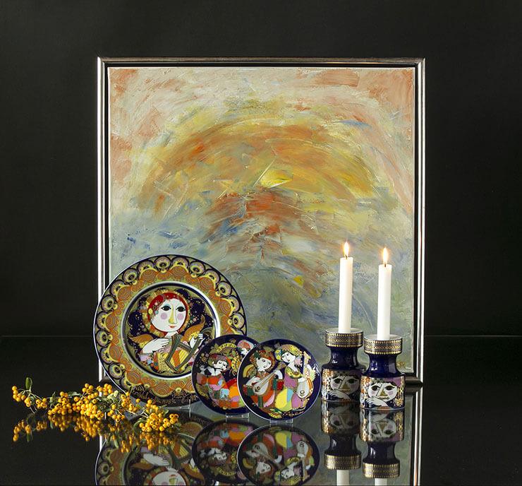 Rosenthal Bjorn Wiinblad Christmas plates and Aladdin plates