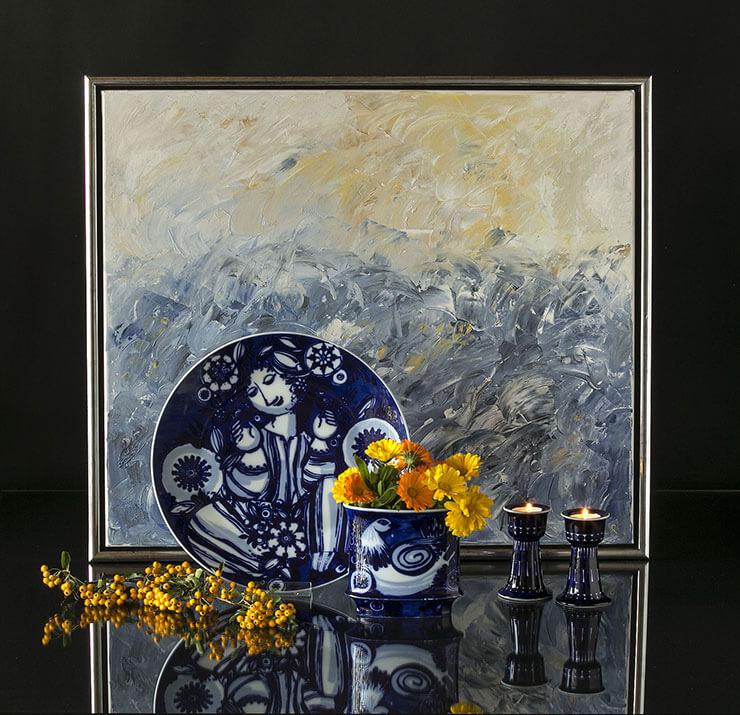 Rosenthal Bjorn Wiinblad plate and vase