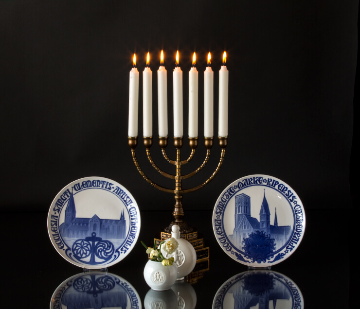 Bing & Grondahl Memorial Plates with Ribe and Aarhus Cathedral by Dahl Jensen
